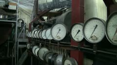 The pressure gauge in the physical laboratory Stock Footage