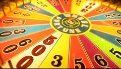 Las Vegas Arcade Wheel of Fortune 02 - stock footage