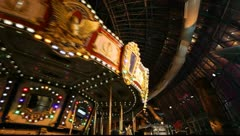 Las Vegas Amusement Park Merry Go Round - stock footage