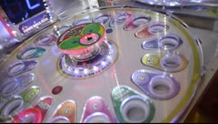 Roulette Like Arcade Game Blinks Stock Footage