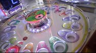Stock Video Footage of Roulette Like Arcade Game Blinks
