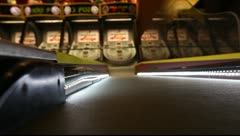 Stock Video Footage of Skee Ball at Las Vegas Arcade