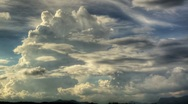 HDR Timelapse: Storm Clouds to Night Stock Footage