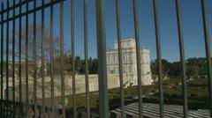 Villa Pamphili through fence (glidecam) Stock Footage