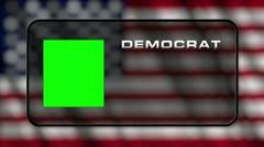 USA Presidential Election Vote 03 loop GS democrat - stock footage