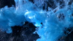 Bright blue swirling liquid background Stock Footage