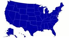 USA States - stock footage