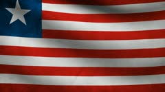 Liberia flag. Stock Footage