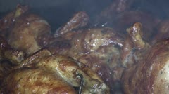 Chiken Barbecue Stock Footage