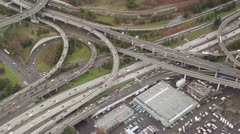 Interstate Junction - Aerial - stock footage