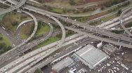 Stock Video Footage of Interstate Junction - Aerial