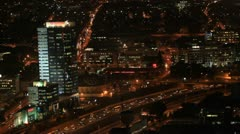 Tel Aviv night view  traffic 1 Stock Footage