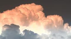 Orange Clouds Time Lapse/ Nuclear Explosion Medium Shot Stock Footage