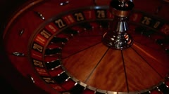 Roulette - Turning Wheel Stock Footage