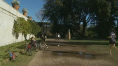 A walk through a park in Rome (2) Stock Footage