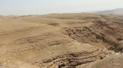 Aerial Israel, Israeli, Biblical Wilderness Stock Footage