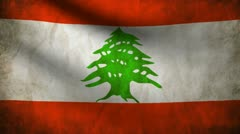 Lebanon flag. Stock Footage