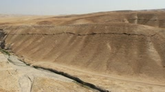 Aerial of Israeli Rift Valley-Jordan Valley Stock Footage
