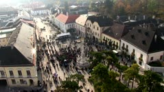 Perchtoldsdorf main Square, timelapse Stock Footage