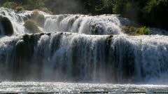 Krka Falls, Croatia Stock Footage