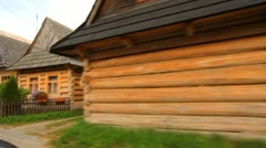 Chocholow old mountain village, Poland Stock Footage