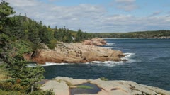 Acadia Thunder Hole coastline Stock Footage