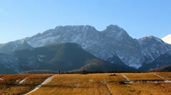 Giewont at Tatras Mountain from town of Zakopane Stock Footage