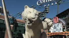 DETROIT-034 TIGERS BASEBALL STADIUM DRIVEAROUND Stock Footage