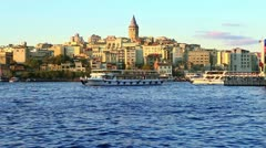 Stock Video Footage of istanbul galata timelapse