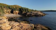 Stock Video Footage of Monument Cove and Gorham Mountain, Acadia National Park, Maine