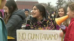 Guantanamo Bay Prison protest Stock Footage