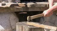 Wood chopping Stock Footage