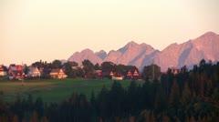 Kasprowy Summit at Tatras Mountain, Poland Stock Footage