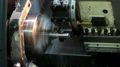 Lathe factory Stock Footage