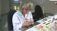 Prosthetics laboratory Stock Footage