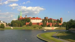 Wawel Castle, Krakow, Poland Stock Footage
