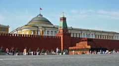 Tourists sightseeing on Red Square, Moscow, Russia Stock Footage