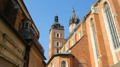 Krakow, Mariacki Sq Stock Footage