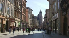 Krakow, Florianska Street Stock Footage