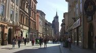 Stock Video Footage of Krakow, Florianska Street