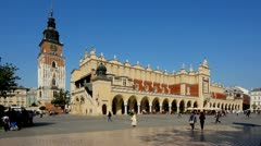 Krakow, Main Market Sq Stock Footage