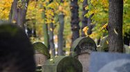 Stock Video Footage of Jewish Cemetery