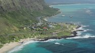 Stock Video Footage of Southeast Oahu coast from above