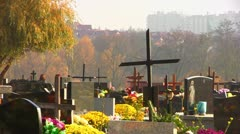 Christian Cemetery Stock Footage