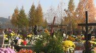 Christian Cemetery Stock Footage