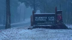 Mammoth Cave National Park Entrance Sign Stock Footage