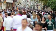 People walking in a crowded street, timelapse Stock Footage