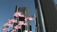 Stock Video Footage of DETROIT-079 RENAISSANCE CENTER