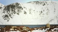 Loch Brandy in winter. Scotland countryside Stock Footage