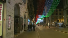 Christmas night (glidecam 1) Stock Footage